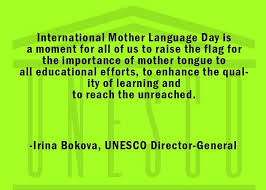 Importance of International Mother Language Day by UNESCO Director General in a post by Mommyshravmusings